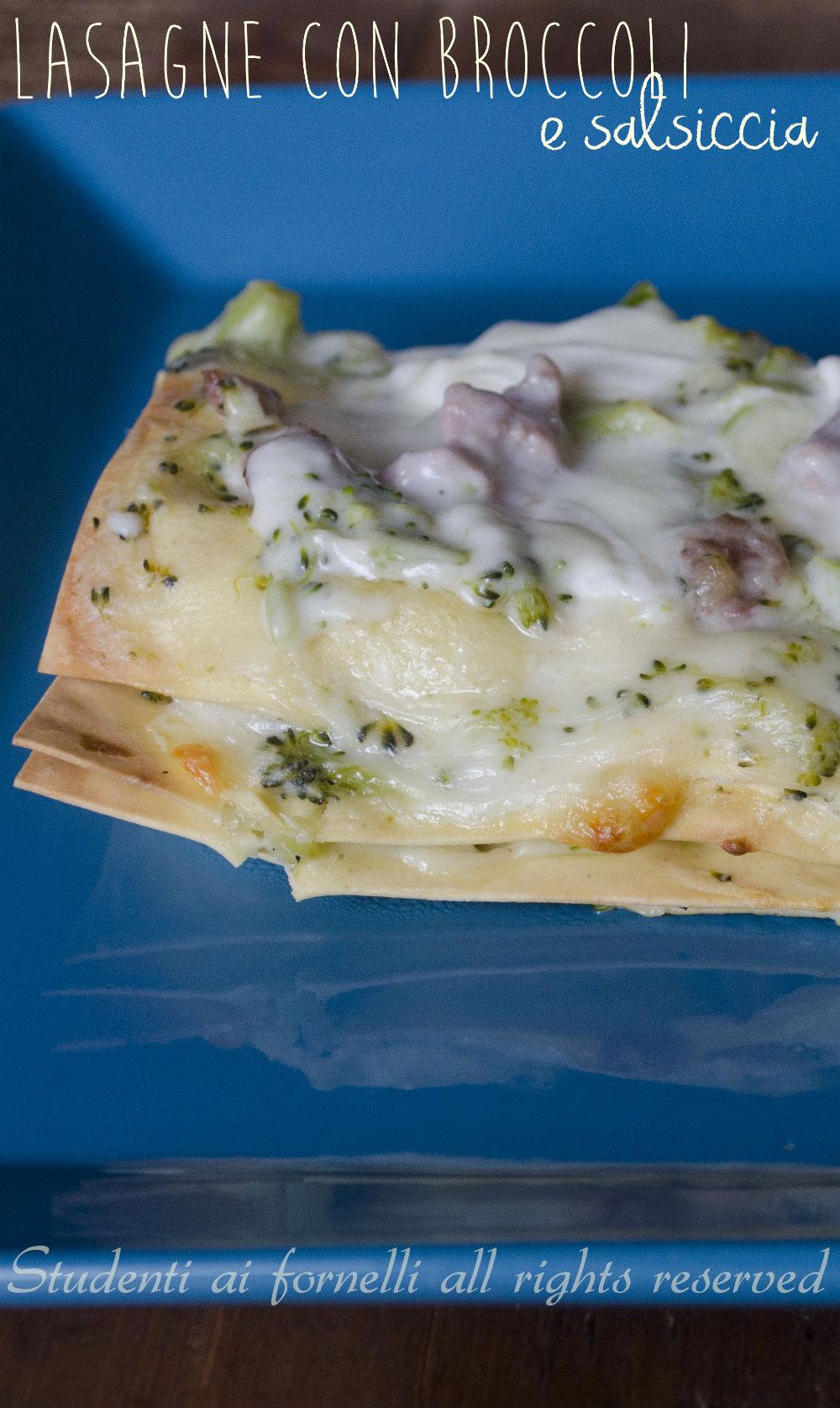 lasagna con broccoli salsiccia e mozzarella di bufala ricetta lasagna gustosa natale