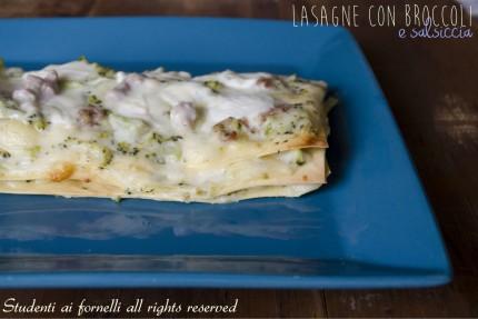 lasagne con broccoli salsiccia e mozzarella di bufala ricetta lasagna gustosa natale