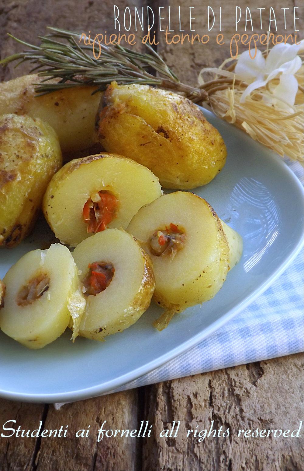 rondelle di patate ripiene tonno e peperoni ricetta secondo gustoso