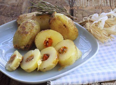 Rondelle di patate ripiene tonno e peperoni