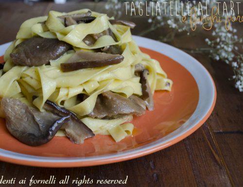 Tagliatelle al tartufo e funghi porcini