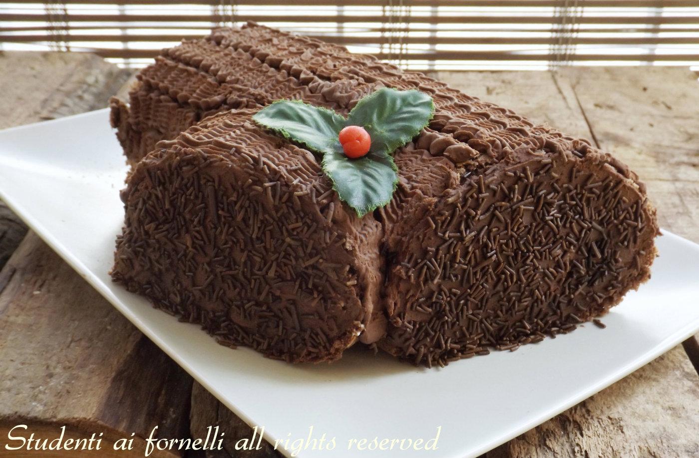 Tronchetto Di Natale Con Ricotta E Cioccolato.Tronchetto Al Cioccolato E Mascarpone Di Natale Ricetta