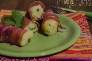 Bocconcini di patate e prosciutto crudo