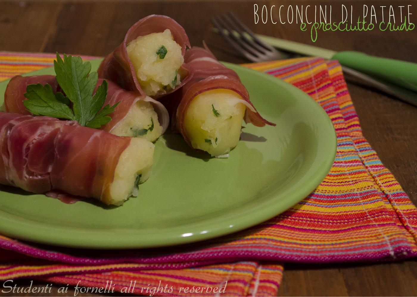 bocconcini di patate e prosciutto crudo ricetta secondo gustoso veloce