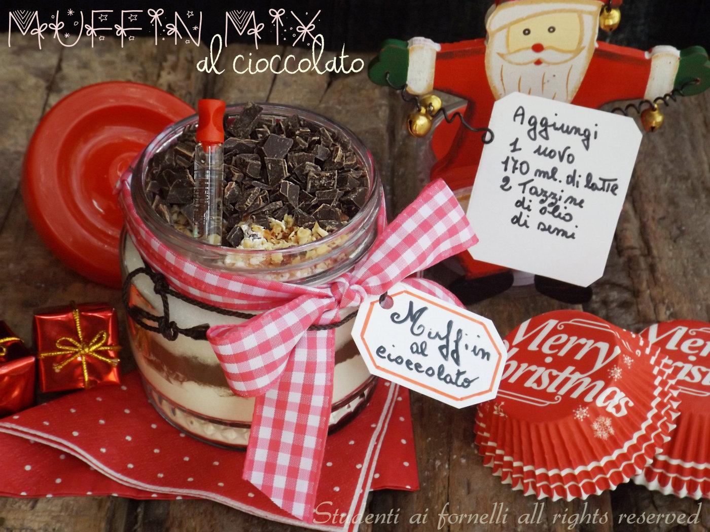 Amato Muffin mix al cioccolato in barattolo, ricetta idea regalo QF09
