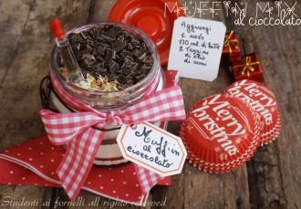 muffin mix al cioccolato da regalare in barattolo ricetta per natale