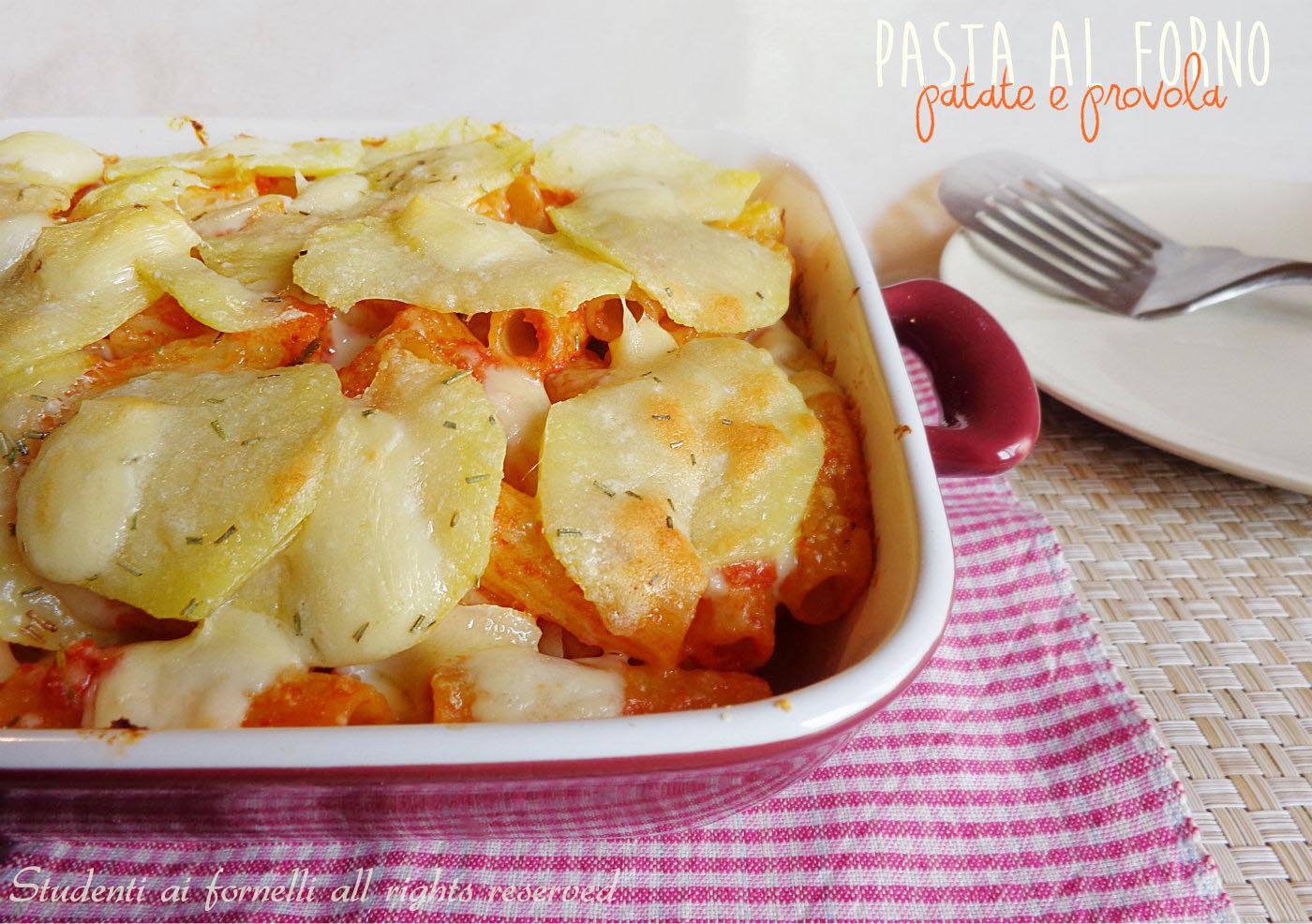 pasta al forno patate e provola ricetta primo piatto della domenica copy