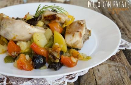 pollo con patate e peperoni al forno ricetta secondo
