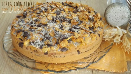 torta ai corn flakes nutella e mandorle ricetta golosa