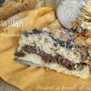 Torta ai corn flakes con nutella e mandorle