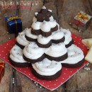 Alberelli di biscotti al cioccolato per Natale