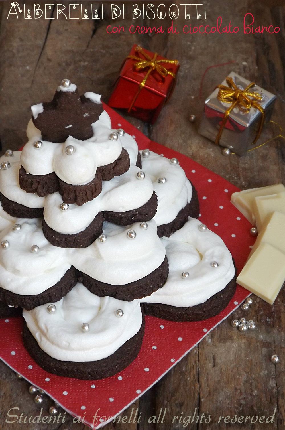 Alberelli di biscotti al cioccolato per natale ricetta for Alberelli di natale