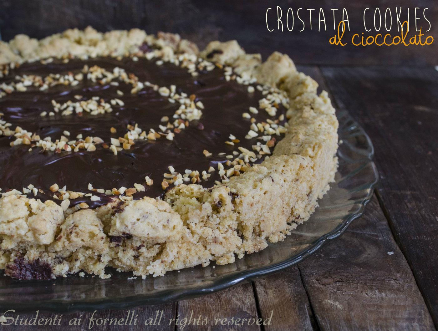 crostata cookies al cioccolato ricetta torta cookies con ganache al cioccolato