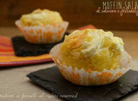Muffin salati salmone e philadelphia