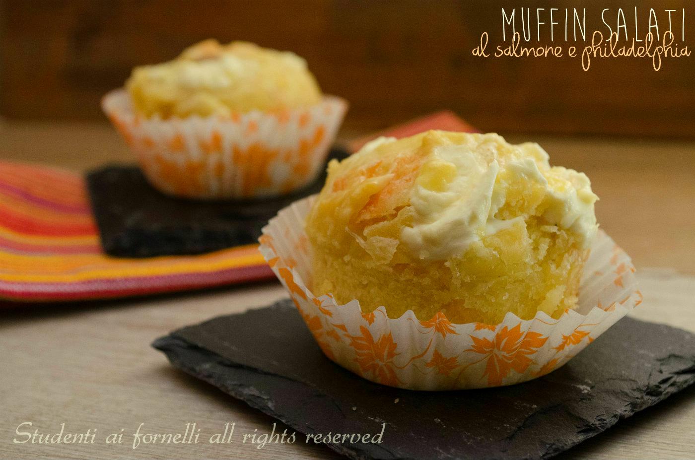 Top Muffin salati salmone e philadelphia, ricetta finger food veloce IX99