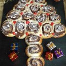 Pan brioche albero di Natale con girelle alla Nutella