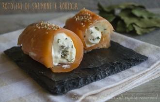 rotolini di salmone affumicato e robiola ricetta antipasto di mare veloce