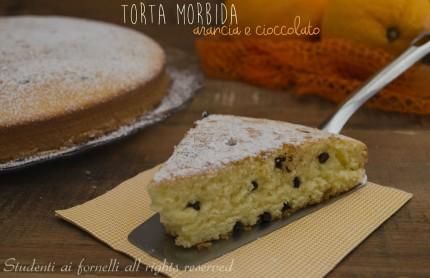 torta morbida arancia e cioccolato senza burro e senza olio ricetta torta soffice arancia per colazione