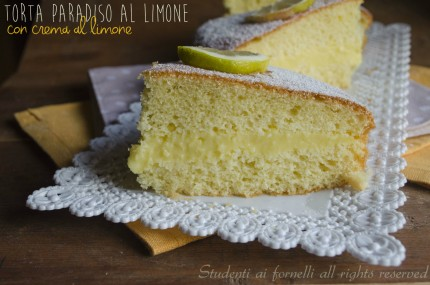 torta paradiso al limone con crema pasticcera al limone soffice e golosa ricetta dolce