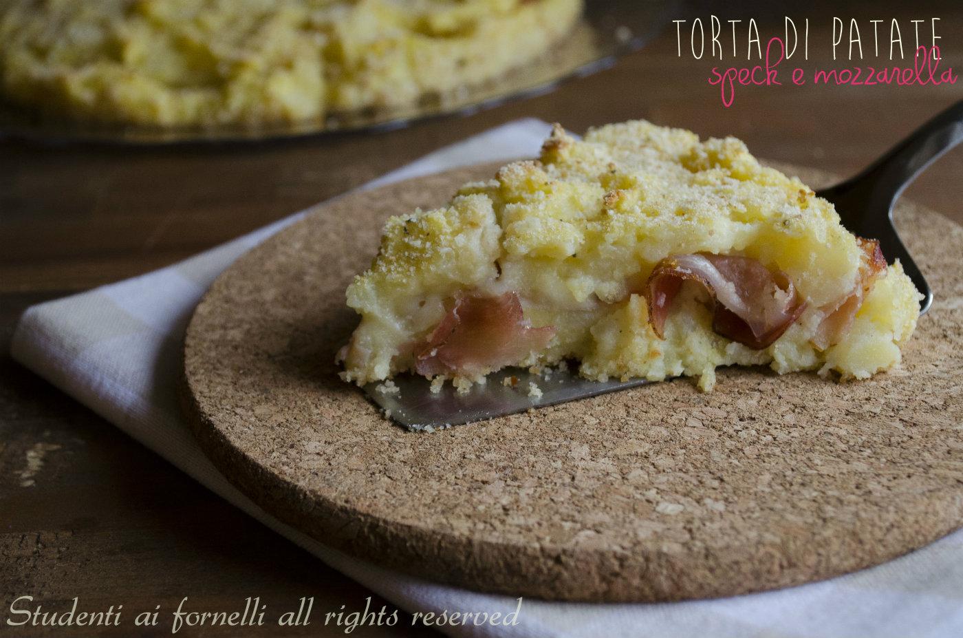 torta di patate speck e mozzarella ricetta secondo gustoso