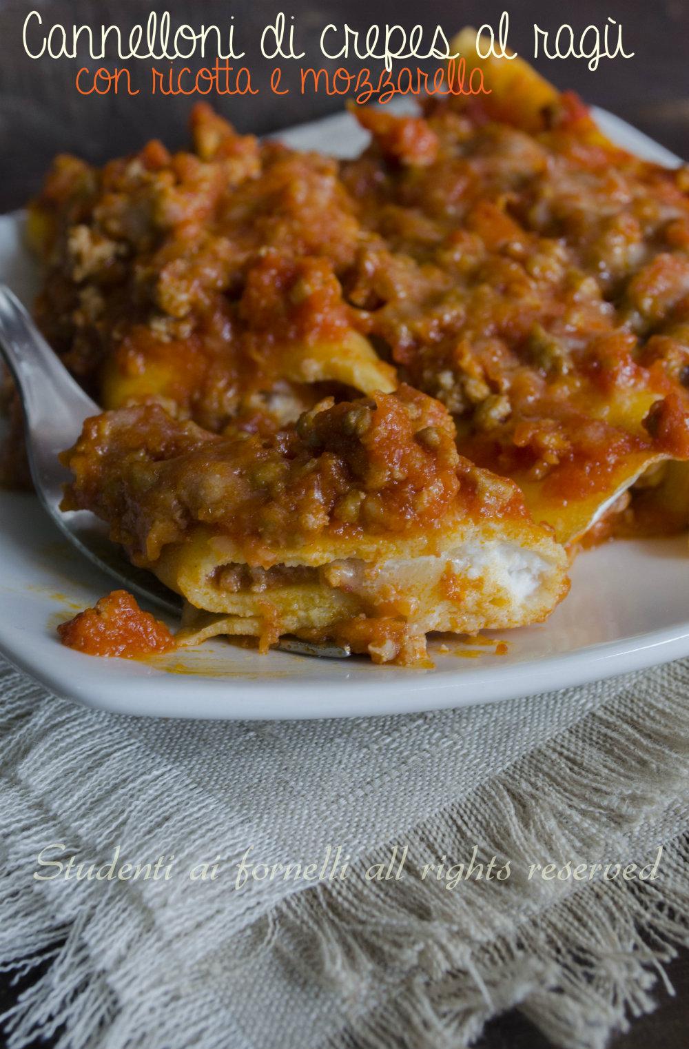 cannelloni di crepes al ragù con ricotta e mozzarella ricetta cannelloni gustosi ripieni (1)