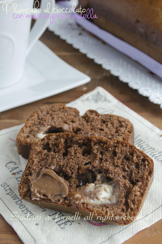 plumcake al cioccolato nutella e mascarpone ricetta dolce goloso con cuore morbido