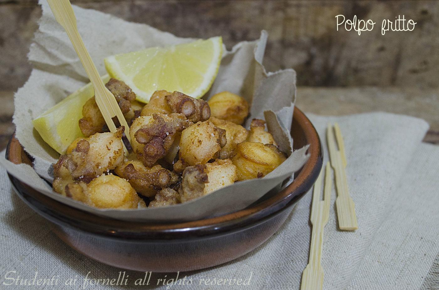 polpo fritto facile per antipasto di pesce, ricetta - Cucinare Leggero