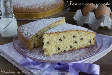 torta cocco e cioccolato allo yogurt soffice colazione merenda ricetta torta 7 vasetti senza bilancia