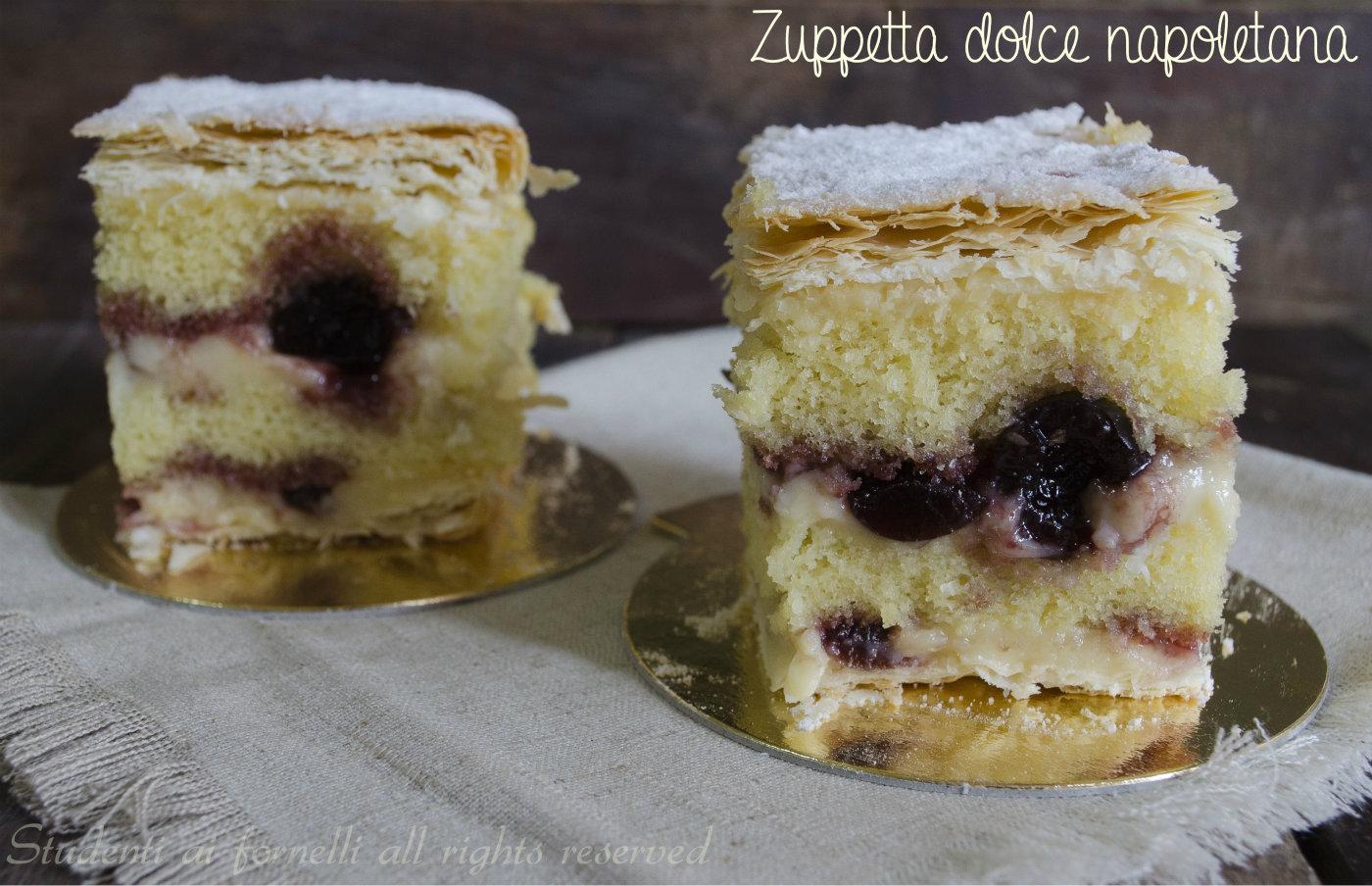 zuppetta dolce napoletana con sfoglia crema pan di spagna