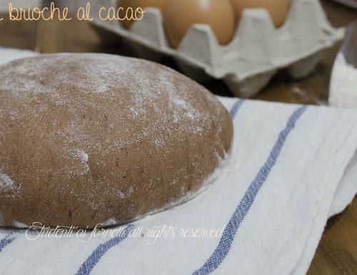 Pan brioche al cacao per brioche soffici