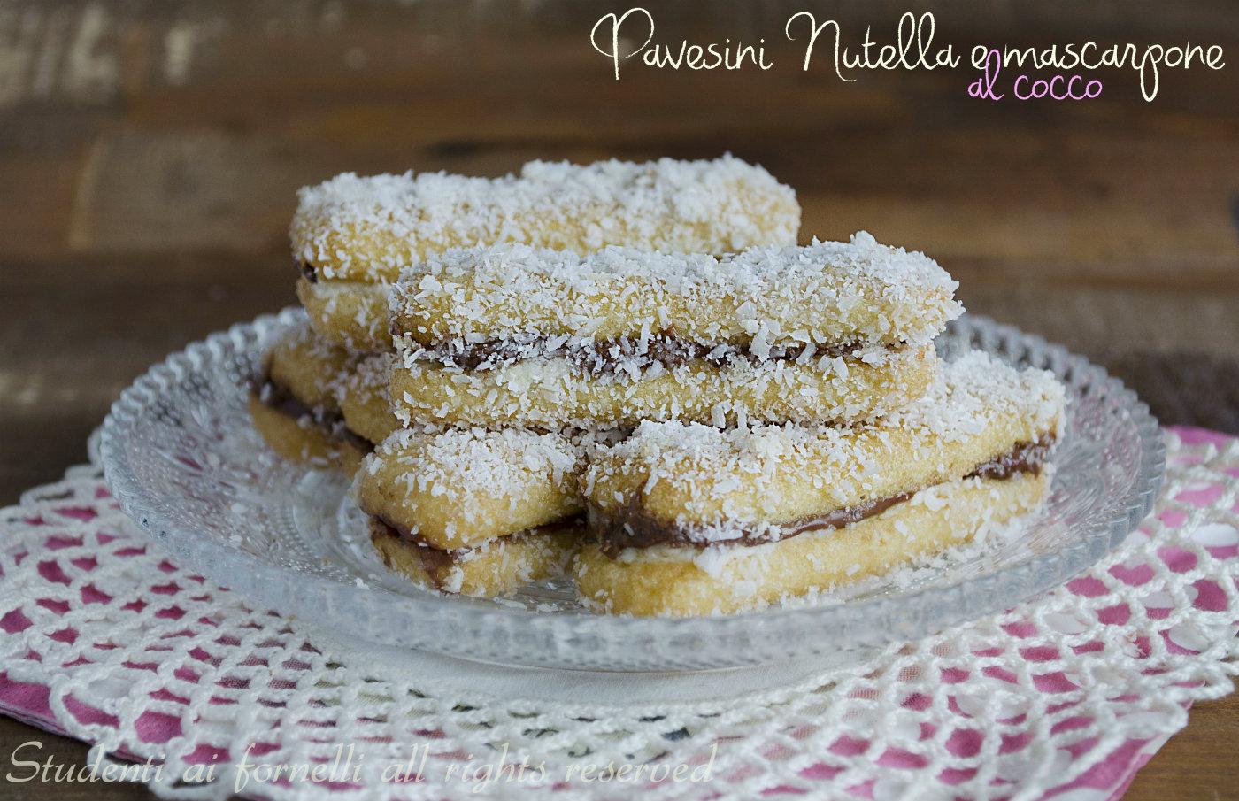Ben noto Pavesini nutella e mascarpone al cocco e caffè, ricetta PA91