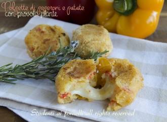 polpette di peperoni e patate con provola filante ricetta secondo sfizioso crocchette gustose leggere