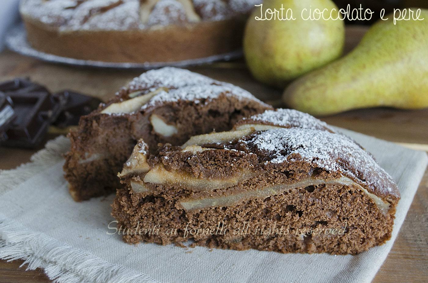 torta cioccolato e pere soffice e golosa ricetta facile