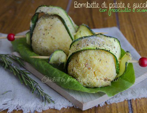 Bombette di patate e zucchine con prosciutto e scamorza