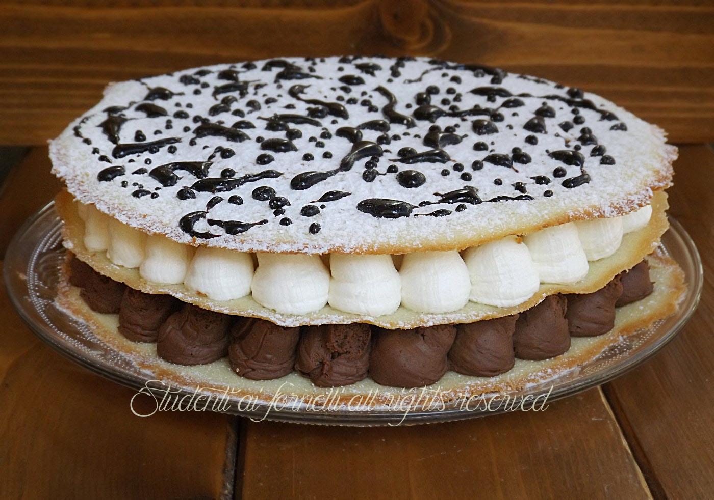 torta di cialde con crema fredda al cioccolato ricetta. Black Bedroom Furniture Sets. Home Design Ideas