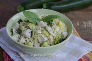 Cous cous con pollo e zucchine