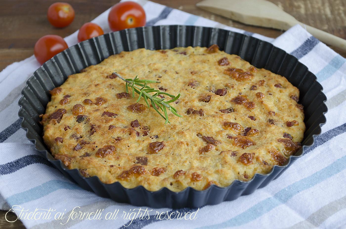 Focaccia Di Pane Con Patate Prosciutto E Formaggio Ricetta Riciclo