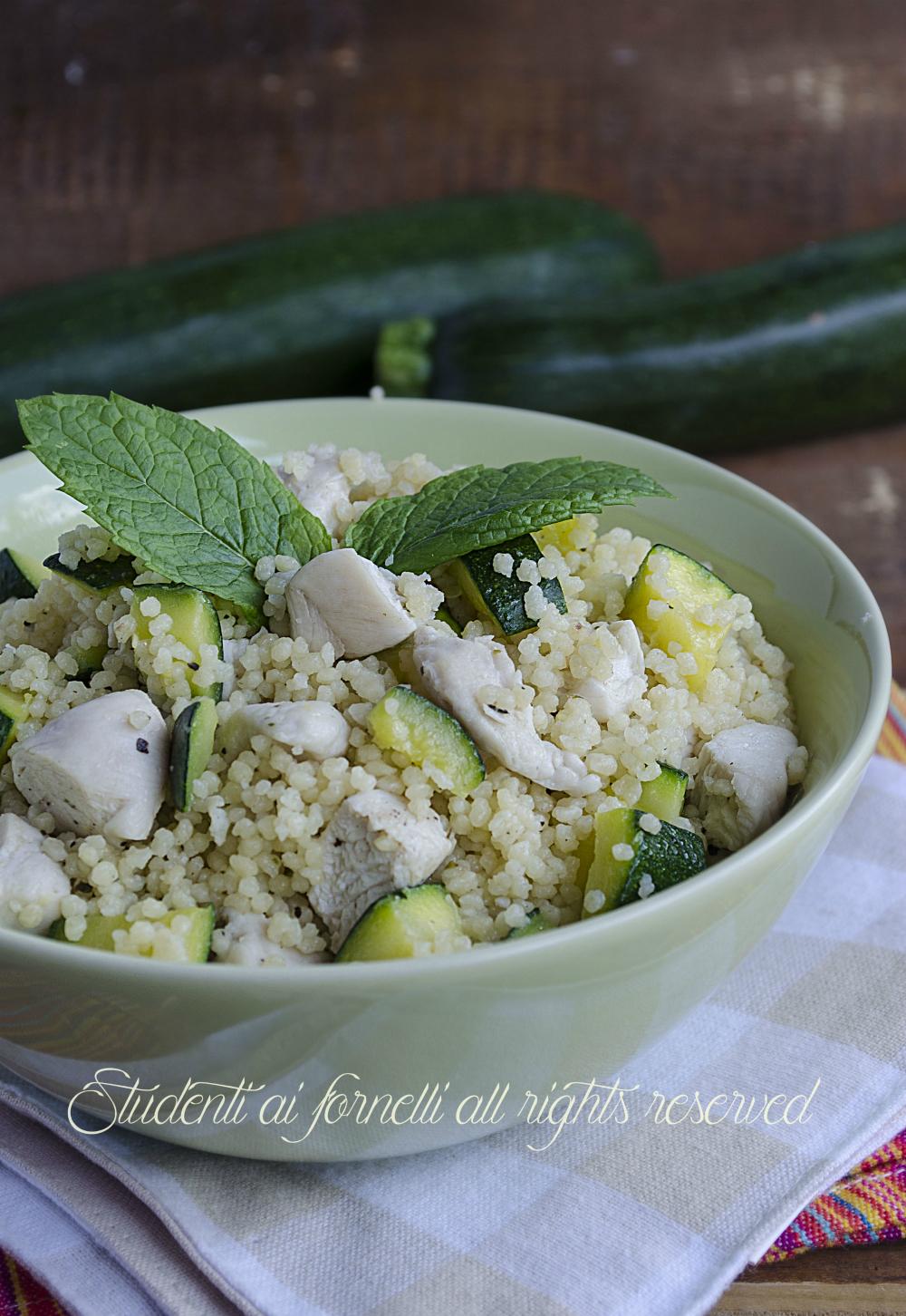 ricetta cous cous pollo e zucchine facile e veloce ricetta insalata di cous cous fredda estiva