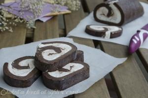 Girelle gelato al cioccolato senza cottura