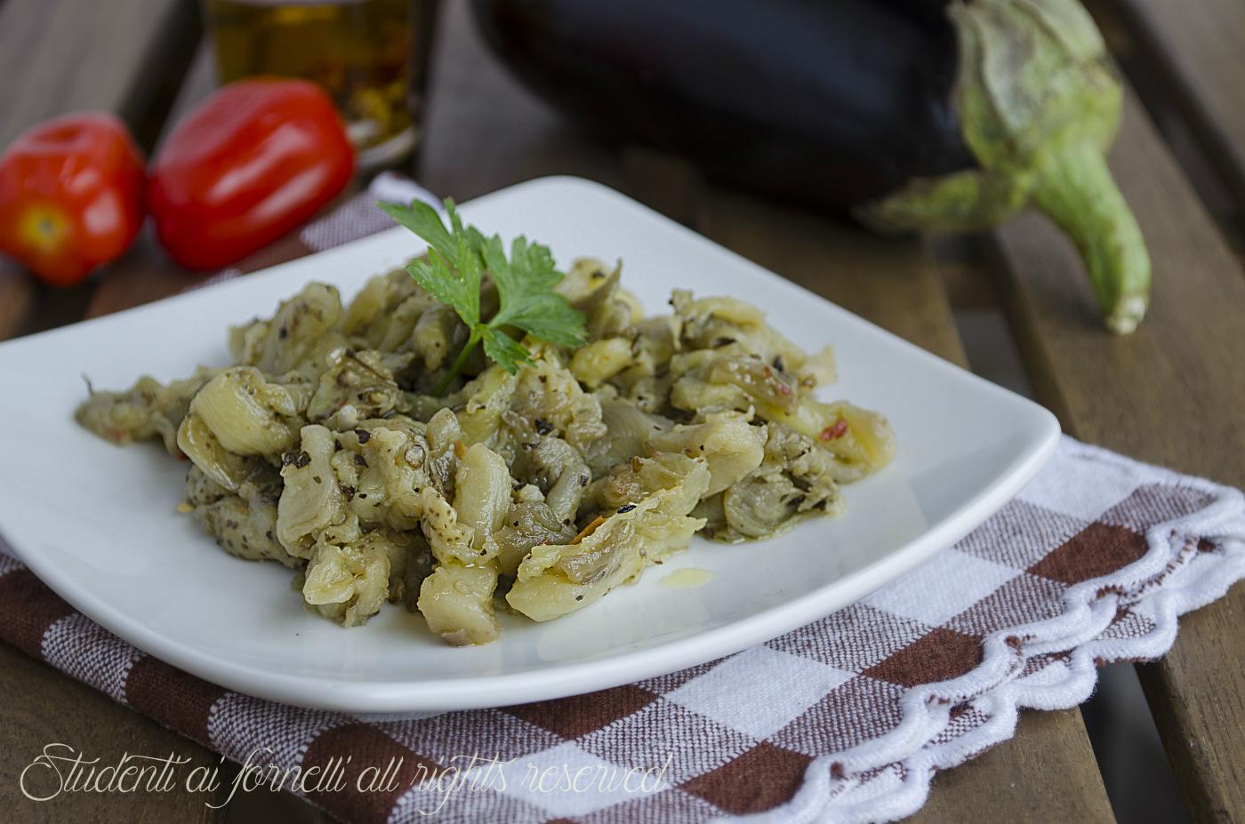 melanzane all'insalata ricetta contorno estivo saporito