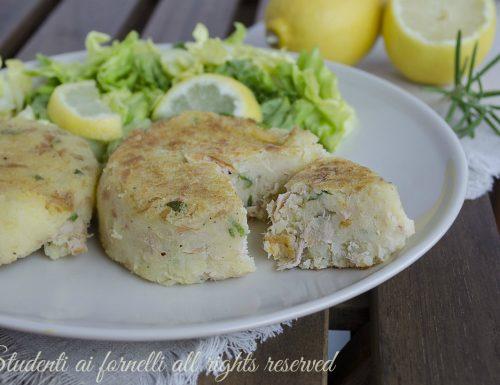 Schiacciatine tonno e patate