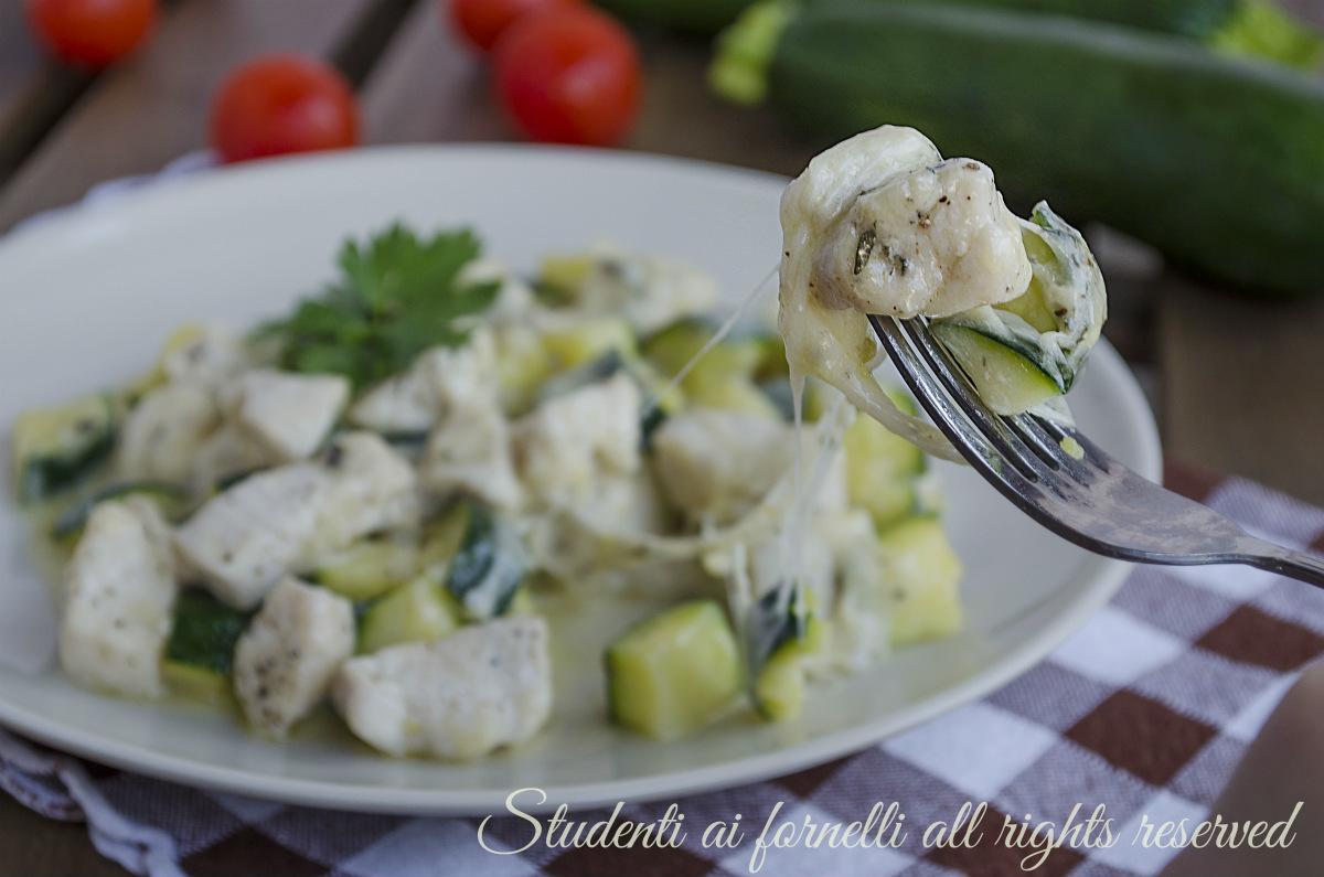ricetta veloce bocconcini di pollo con zucchine e provola ricetta secondo estivo gustoso veloce