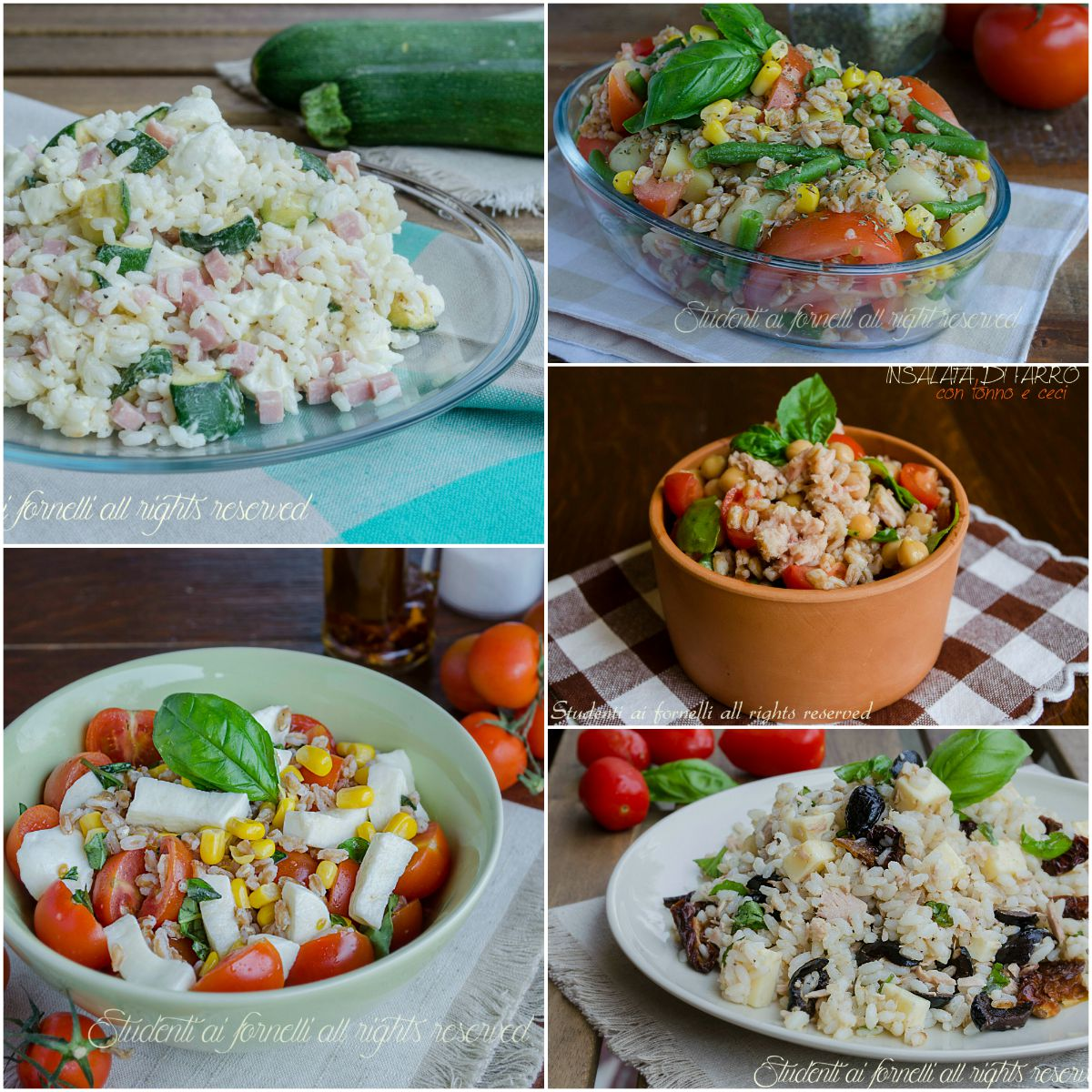 Ricette estive insalate di riso farro e orzo fredde for Ricette di riso
