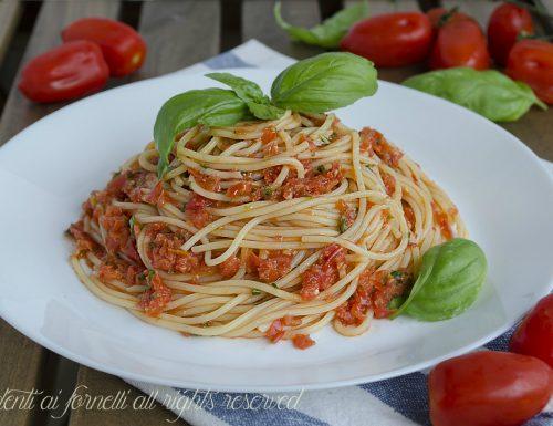 Spaghetti al pomodoro fresco senza cottura