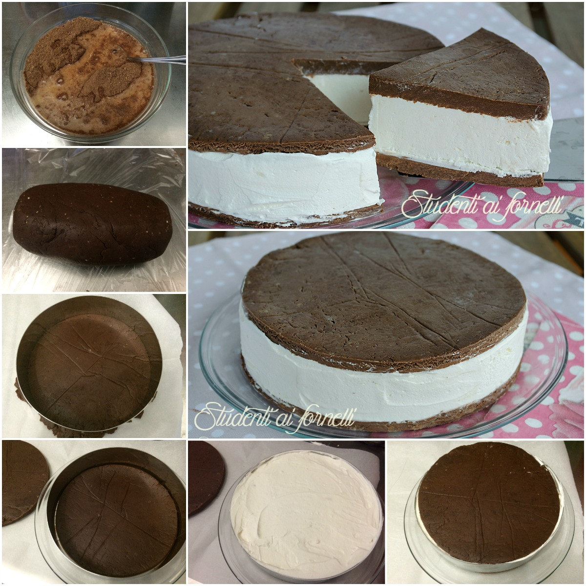 torta fredda kinder fetta a latte senza cottura estiva ricetta passo passo