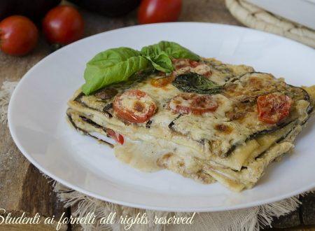 Lasagne melanzane e pomodorini leggere e gustose