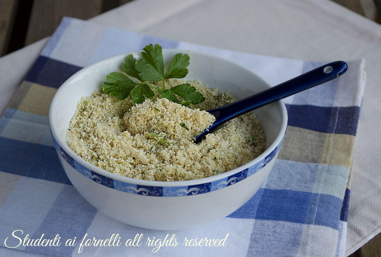 panatura al parmigiano e prezzemolo per carne pesce verdure veloce senza uova