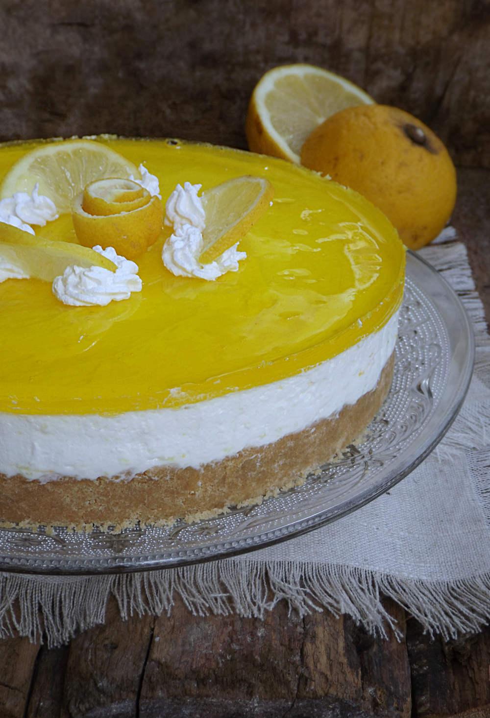 Super Torta fredda limone e cioccolato bianco senza cottura, ricetta ZT32