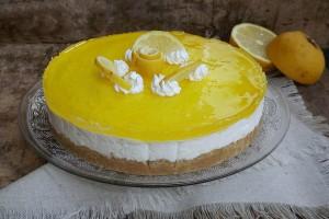 Torta fredda limone e cioccolato bianco