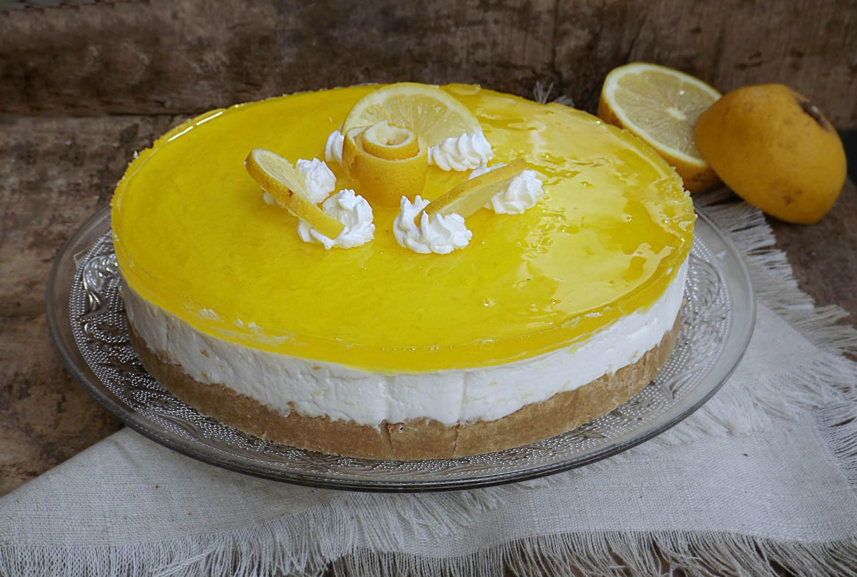 abbastanza Torta fredda limone e cioccolato bianco senza cottura, ricetta JM96